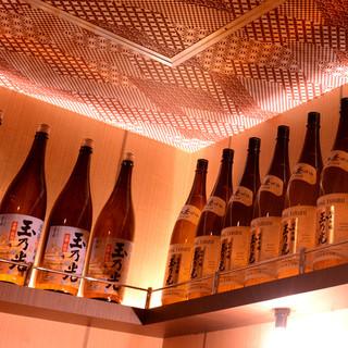 こだわりの日本酒・焼酎たち・・・