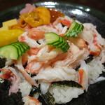 西村屋 和味旬彩 - かにちらし、味噌だれ、小鉢付き1
