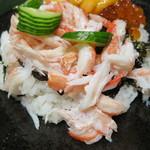 西村屋 和味旬彩 - かにちらし、味噌だれ、小鉢付き2