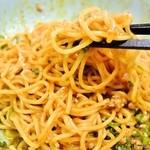 24627835 - 汁なし担担麺(攪拌後)