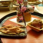 懐石料理 桝田 - 先附<鮟肝、白魚他>