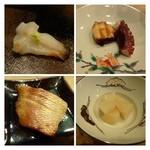 24629656 - *ミル貝・・食感もいいですね。 *蛸の柔らか煮*クロムツ・・これは脂がのり美味しい。。