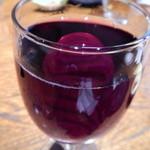 もてなしや将 - グラス赤ワイン