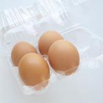 福島屋 - 後藤赤玉鶏「もみじ」の卵。
