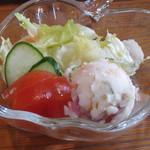 ログカフェ空 - セットのサラダ