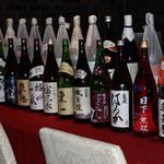 魚菜えぼし庵・隠座 - 日本全国から取り寄せた地酒。100種類を超える厳選された地酒。
