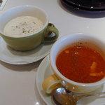 マイアミガーデン - スープ。ミネストローネとクラムチャウダー。