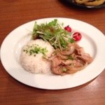 TOKYO PEOPLE'S CAFE - ポークジンジャーのライスプレート