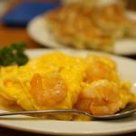 銀座天龍 - 海老と玉子の炒め物