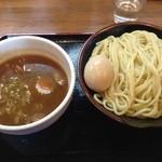 東勝軒○秀 - つけ麺(大盛り無料)OPEN価格500円+味玉100円