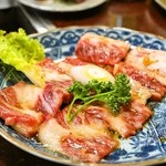 焼肉 京城 - 2014.3 骨付カルビ(1,200円)タレ