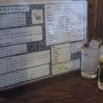 24646260 - ドリンクメニュー。生ビール(サッポロ黒ラベル中ジョッキ)は400円。