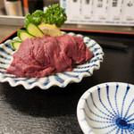 雑魚膳 しながわ - 馬刺たたき 1,250円