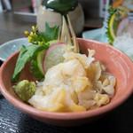 雑魚膳 しながわ - 北海 ツブ貝造り 980円