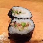 つかさ鮨 - ピリ辛巻は細巻きにしてもらいました。       青唐を中心に数種の素材が絶妙なハーモニーw