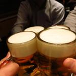 小料理荒井 - キリンラガー樽詰生ビール(中)473円