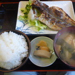 おじゃんせ - 料理写真:鯵焼き魚定食