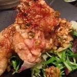 チャイナバル BIGUP! - 鶏の唐揚げにタレを掛けた感じかな