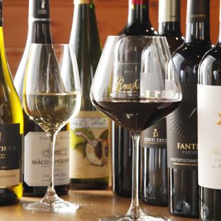 ノムリエ厳選ワインは80種類以上!