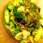 季節のオーガニック野菜のペペロンチーノスパゲッティ