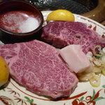 闇市 - 料理写真:☆和牛フィレ肉はリーズナブルでGood!!(≧▽≦)~♡☆