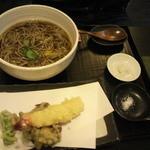 手打ちそば 蕎庵 かゆう  - 天ぷらそば1250円+大盛り200円