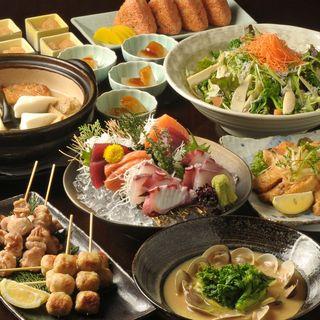 旬の食材を使ったお得な宴会メニューは2500円~4コース~