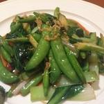 Bejichainanangokushuka - 5種青野菜オイスターソース(アップ)