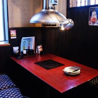 広いテーブルで美味しい焼肉をどうぞ!朝5時まで営業☆
