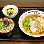 ママ食堂 - ミニチャーシュー丼セット\800
