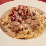アルポルト - ポルチーニ茸と生ハムのクリームソーススパゲティ