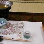 割烹 福助 - テーブルセット