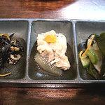 soul of okinawa 海の彼方 - 突き出し3種