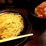 つけ麺 柾木 - つけ麺:730円、2品のせ:250円 ※2品→チャーシュー3枚、味玉1個
