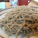 手打そば ながいけ - 桜海老の天せいろの蕎麦( ¥100で粗挽きにしました)       (2014.3.7)