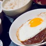 ゆにおん食堂 - 【2014年3月訪問】粗挽き自家製ハンバーグ定食
