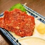 まるかや - 2014.3 天然霜降桜刺(500円)