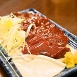 まるかや - 2014.3 豚レバ刺(390円)