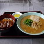 一仙 - ミニカツ丼セット(そば・ミニカツ丼)¥1,100