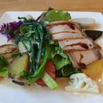 有機菜園ダイニング・タベルナ - 豚肉と野菜のグリル盛合せ