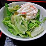 松葉 - セットで付いたサラダ(マカロニサラダ)