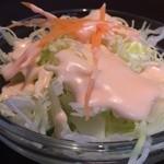 アジアン食堂 - サラダは一般的なものでした。