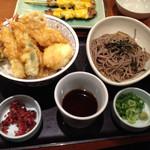 和食さと - ちくわ天丼セット