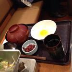 和食さと - 半ライスとすき焼き鍋セット