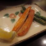 鉄板焼レストラン かほり - 料理写真:コース前菜:焼きカニ
