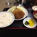 元町食堂 - アジフライ定食