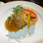 櫟平ホテル - 料理写真:夕食の洋皿