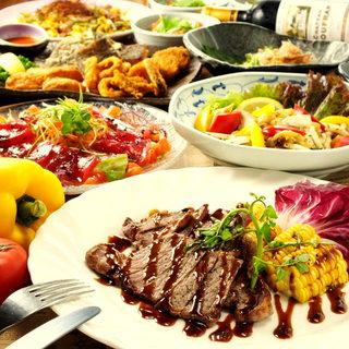 宴会コース飲み放題付きで4500円~ご用意しております。