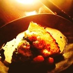櫻珈琲煎房 - ホタテのキッシュ♪通常パイ生地の部分がマッシュポテトになっててじゃがいも好きには嬉しい꒰´•͈⌔•͈⑅꒱♪♪