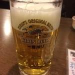 海ん中 - 生ビール♪